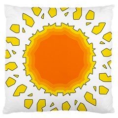 Sun Hot Orange Yrllow Light Large Cushion Case (two Sides) by Alisyart