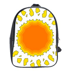 Sun Hot Orange Yrllow Light School Bags (xl)  by Alisyart