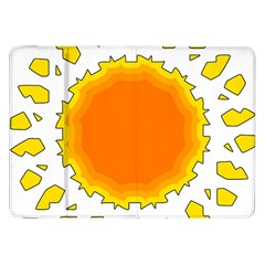 Sun Hot Orange Yrllow Light Samsung Galaxy Tab 8 9  P7300 Flip Case by Alisyart