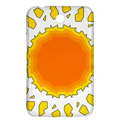 Sun Hot Orange Yrllow Light Samsung Galaxy Tab 3 (7 ) P3200 Hardshell Case  by Alisyart