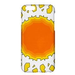 Sun Hot Orange Yrllow Light Apple Iphone 6 Plus/6s Plus Hardshell Case by Alisyart
