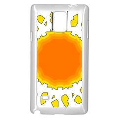 Sun Hot Orange Yrllow Light Samsung Galaxy Note 4 Case (white) by Alisyart