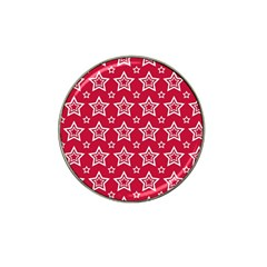 Star Red White Line Space Hat Clip Ball Marker by Alisyart