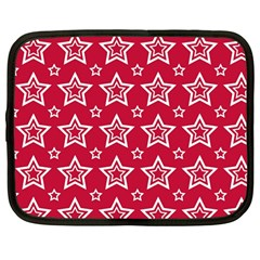 Star Red White Line Space Netbook Case (large) by Alisyart