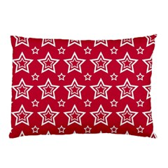 Star Red White Line Space Pillow Case by Alisyart