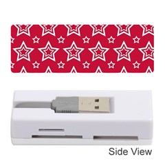Star Red White Line Space Memory Card Reader (stick)