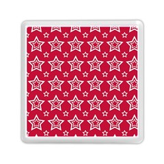 Star Red White Line Space Memory Card Reader (square)  by Alisyart