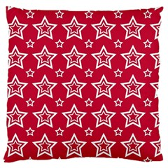 Star Red White Line Space Large Cushion Case (two Sides) by Alisyart