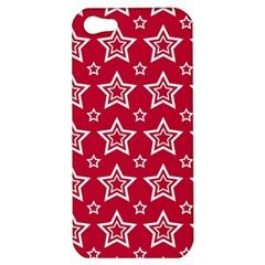 Star Red White Line Space Apple Iphone 5 Hardshell Case by Alisyart