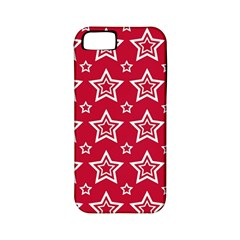 Star Red White Line Space Apple Iphone 5 Classic Hardshell Case (pc+silicone)