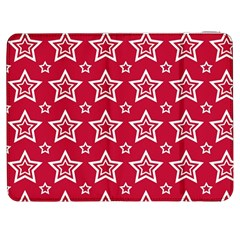 Star Red White Line Space Samsung Galaxy Tab 7  P1000 Flip Case by Alisyart
