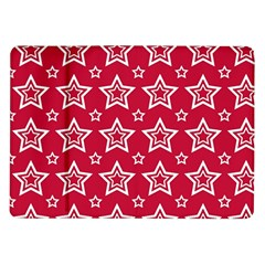Star Red White Line Space Samsung Galaxy Tab 10 1  P7500 Flip Case
