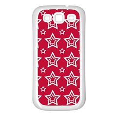 Star Red White Line Space Samsung Galaxy S3 Back Case (white) by Alisyart