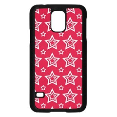 Star Red White Line Space Samsung Galaxy S5 Case (black) by Alisyart