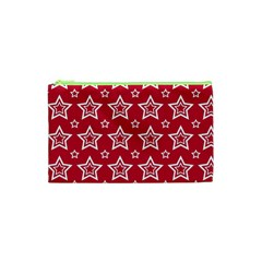 Star Red White Line Space Cosmetic Bag (xs) by Alisyart