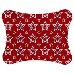 Star Red White Line Space Jigsaw Puzzle Photo Stand (bow) by Alisyart
