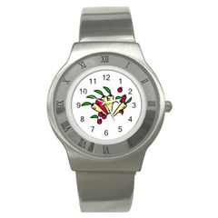 Tomatoes Carrots Stainless Steel Watch by Alisyart
