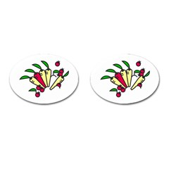 Tomatoes Carrots Cufflinks (oval)