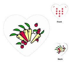 Tomatoes Carrots Playing Cards (heart)  by Alisyart