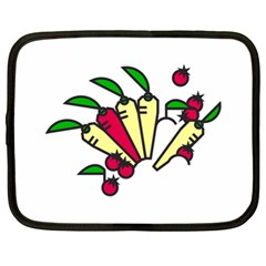 Tomatoes Carrots Netbook Case (xl)  by Alisyart