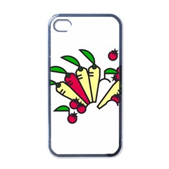 Tomatoes Carrots Apple Iphone 4 Case (black) by Alisyart