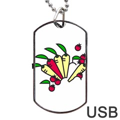 Tomatoes Carrots Dog Tag Usb Flash (one Side) by Alisyart
