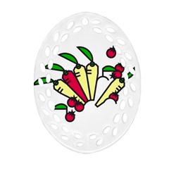 Tomatoes Carrots Oval Filigree Ornament (two Sides) by Alisyart