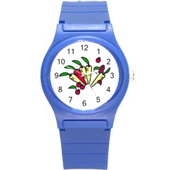 Tomatoes Carrots Round Plastic Sport Watch (s) by Alisyart
