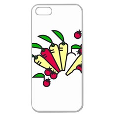 Tomatoes Carrots Apple Seamless Iphone 5 Case (clear) by Alisyart