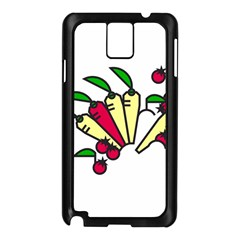 Tomatoes Carrots Samsung Galaxy Note 3 N9005 Case (black) by Alisyart