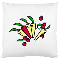 Tomatoes Carrots Standard Flano Cushion Case (one Side) by Alisyart