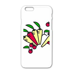 Tomatoes Carrots Apple Iphone 6/6s White Enamel Case