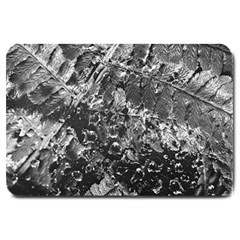 Fern Raindrops Spiderweb Cobweb Large Doormat  by Simbadda