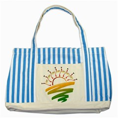 Sunset Spring Graphic Red Gold Orange Green Striped Blue Tote Bag by Alisyart