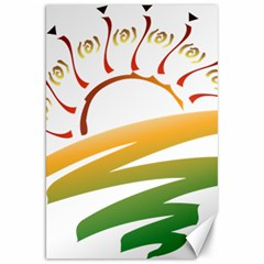 Sunset Spring Graphic Red Gold Orange Green Canvas 20  X 30   by Alisyart