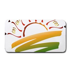 Sunset Spring Graphic Red Gold Orange Green Medium Bar Mats by Alisyart