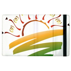 Sunset Spring Graphic Red Gold Orange Green Apple Ipad 2 Flip Case by Alisyart