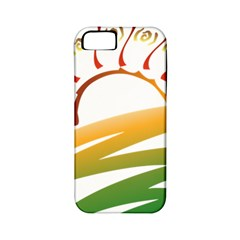 Sunset Spring Graphic Red Gold Orange Green Apple Iphone 5 Classic Hardshell Case (pc+silicone)