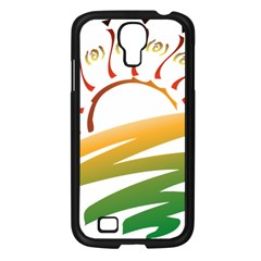 Sunset Spring Graphic Red Gold Orange Green Samsung Galaxy S4 I9500/ I9505 Case (black)