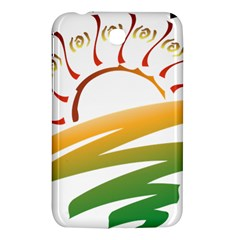 Sunset Spring Graphic Red Gold Orange Green Samsung Galaxy Tab 3 (7 ) P3200 Hardshell Case  by Alisyart