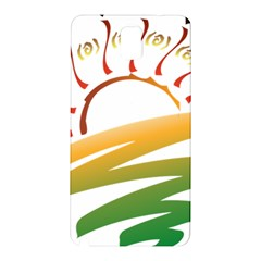 Sunset Spring Graphic Red Gold Orange Green Samsung Galaxy Note 3 N9005 Hardshell Back Case by Alisyart