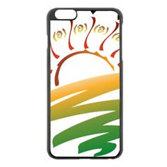 Sunset Spring Graphic Red Gold Orange Green Apple Iphone 6 Plus/6s Plus Black Enamel Case by Alisyart
