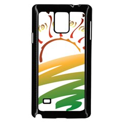 Sunset Spring Graphic Red Gold Orange Green Samsung Galaxy Note 4 Case (black) by Alisyart