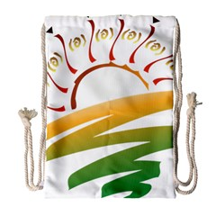 Sunset Spring Graphic Red Gold Orange Green Drawstring Bag (large)