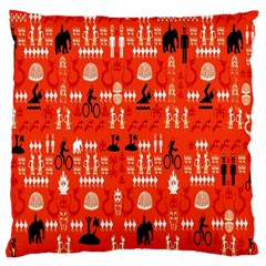 Traditional Wayang Standard Flano Cushion Case (two Sides) by Alisyart