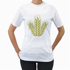 Tree Wheat Women s T Shirt (white) (two Sided)
