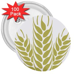 Tree Wheat 3  Buttons (100 Pack)