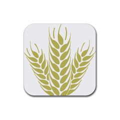 Tree Wheat Rubber Coaster (square)  by Alisyart
