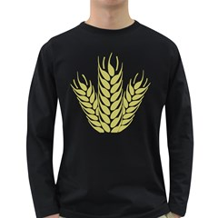 Tree Wheat Long Sleeve Dark T-shirts by Alisyart