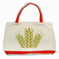 Tree Wheat Classic Tote Bag (red) by Alisyart